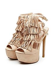 Damen-Sandalen-Kleid Party & Festivität-Stoff-Stöckelabsatz-Club-Schuhe-