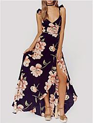 Mujer Línea A Vaina Vestido Fiesta Noche Casual/Diario Vintage Bonito Chic de Calle,Un Color Floral Con Tirantes Sobre la rodillaSin