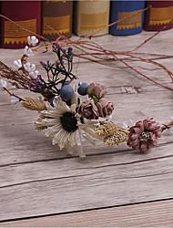 Túnel de linho tela de tecido-casamento ocasião especial casuais headbandes ao ar livre grinaldas 1 peça