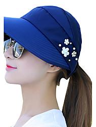 Для женщин На каждый день Шляпа от солнца,Лето Хлопок С принтом
