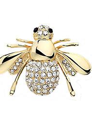 Fashion Cute Shiny Rhinestone Bee Brooch