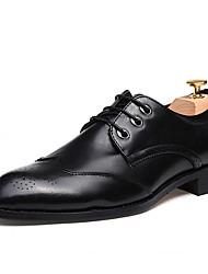 Men's Oxfords Spring Fall Comfort Fabric Outdoor Flat Heel Burgundy Gray Black Walking