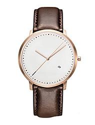 Men's Dress Watch Fashion Watch Quartz Leather Band Black Brown Brown Black White
