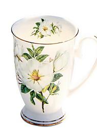 220 ml de tasse de café en céramique au lait avec couvercle