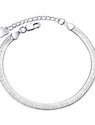 Femme Chaînes & Bracelets Mode Plaqué argent Forme de Ligne Argent Bijoux Pour Mariage Soirée Occasion spéciale Regalos de Navidad 1pc