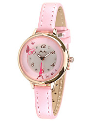 Women's Fashion Watch Japanese Quartz / Genuine Leather Band Casual Blue Pink Blushing Pink LightBlue