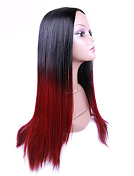 Black To Red Color Straight Synthetic Hair Wigs Glueless Synthetic Wigs For Afro Women