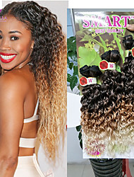6pcs Full Head kanekalon synthetic hair Kinky curly weave bundles ombre hair deep curly jerry curl synthetic hair weave curl 14 16 18 inch
