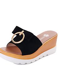 Damen-Sandalen-Lässig-Stoff-Flacher Absatz-Komfort-