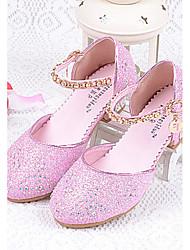 Fille Chaussures à Talons Confort Paillette Eté Décontracté Confort Paillette Brillante Gros Talon Argent Bleu Rose 2,5 à 4,5 cm