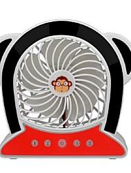Macaco mini usb fan simples bateria de lítio recarregável e pequeno ventilador portátil