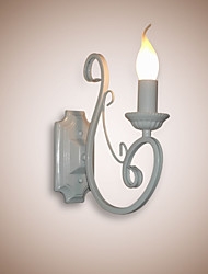 E12/E14 Candle Lamp Bedside Lamp Wall Lamp Iron Corridor Creative Pastoral Mirror Lamp