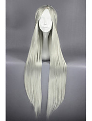 Silver White Straight Anime 40inch Cosplay Hair Wig CS-164A