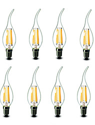 ® Shenmeile 4.5W E14 LED Candle Lights CA35 6 COB 500 lm Warm White Decorative AC 220-240 V 8 pcs