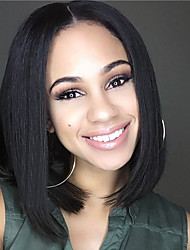 Short Bob Straight Lace Front  Wigs Synthetic Wigs Heat Resistant Natural Fiber Hair Wigs  With Baby Hair For Women