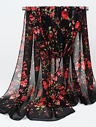 Womens Fashion  Chiffon Small Flowers Printing Vintage /Sexy /Cute / Party / Casual Scarfs 160*50CM