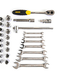 STANLEY Metric Polished Double Open Wrench 28 Pieces 12.5MM LT-024-23 Auto Repair Tool Set