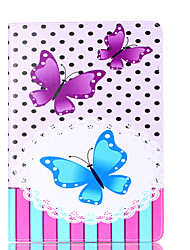 For Apple iPad 4 3 2 Case Cover Butterfly Pattern Card Stent PU Material Flat Protection Shell