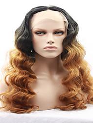 Beauté ville main attachée platine couleur haute température fibre cheveux longue ondulée résistant à la chaleur sans gluten lacets