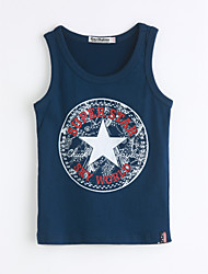 Boys' Casual/Daily Geometric Tank & Cami,Cotton Summer Sleeveless