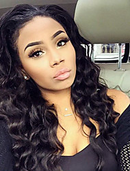 Natural Color Full Lace Wigs Human Hair Water Wave for Black Woman 100% Brazilian Virgin Hair Lace Front Wigs with Baby Hair