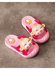 Girls' Flats Spring Fall First Walkers Leatherette Outdoor Casual Low Heel Magic Tape Blushing Pink Blue Yellow Walking