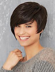 Natural cabelos curtos cabelo humano peruca cabelo da mulher 2 seleção de cores