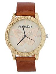 Luxury Brand Bamboo Butterfly Watches Relogio Masculino Wood Wristwatch Quartz Fashion Watch Leather Clock