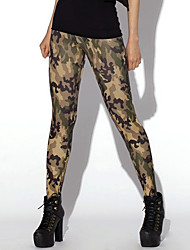 Women's Sporty Look Fashion Camouflage Print Breathable Quick Dry Compression Stretch Spring/Summer Sports Tights Pants Fitness Running Leggings