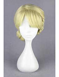 Curtos congelados-elsa amarelo stnthetic 12inch anime cosplay peruca cs-179a
