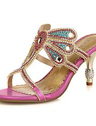 Da donna-Sandali-Matrimonio Formale Serata e festa-Comoda Innovativo Con cinghia Club Shoes-A stiletto-Di pelle Microfibra-