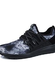 Herren Sneakers Frühjahr Herbst Komfort PU Outdoor athletisch casual schwarz / gelb schwarz / weiß