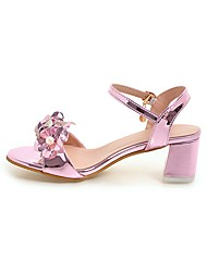 Women's Sandals Comfort Ankle Strap Light Soles Patent Leather Summer Casual Office & Career Dress Comfort Ankle Strap Light Soles