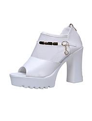 Da donna-Sandali-Tempo libero Formale Casual-Club Shoes-Quadrato-Finta pelle-