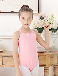 Ballet Leotards Kid's Cotton Spandex 1 Piece Sleeveless