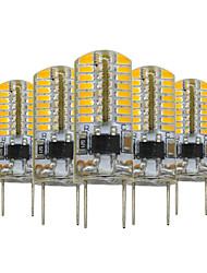 3W G8 Luminárias de LED  Duplo-Pin T 64 SMD 3014 200-300 lm Branco Quente Regulável Decorativa V 5 pçs