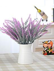 1 Ramo Isopor Plástico Couro Ecológico Fibra Toque real Plantas Lavanda Outras Flor de Mesa Flores artificiais