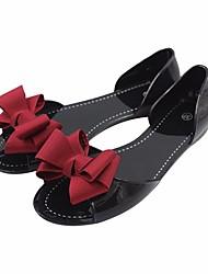 Damen-Sandalen-Lässig-PUKomfort-Schwarz Rot Blau