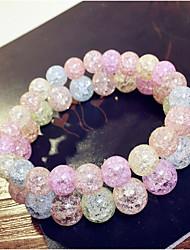 Femme Bracelets de rive Cristal Mode Perlé Coloré Cristal Forme de Cercle Forme Ronde Arc-en-ciel Bijoux Pour Quotidien Décontracté 1pc
