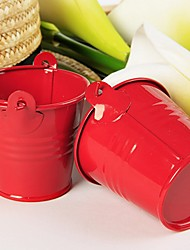12pcs/set - Red Tin Candy Pails Party Decorations 7 x 6 x 6 cm/pcs