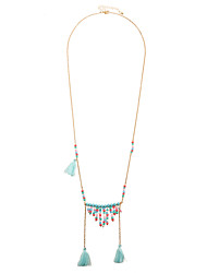 Bohemian Handcraft Multi Layered Colourful Beaded Charms Tassel Pendant Necklaces
