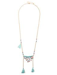 Femme Colliers Déclaration Bijoux Forme Géométrique Original Pendant Bohême Multivoies Porter Fait à la main Bijoux Fantaisie Simple Style