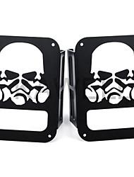 Masque de gaz crâne kawell protecteur de protection de lumière noire pour 2007-2016 jeep wrangler 2/4 porte sport x sahara feu feux