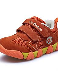 Boys' Sneakers Comfort PU Spring Fall Outdoor Walking Comfort Magic Tape Flat Heel Navy Blue Light Brown Dark Brown Royal Blue Under 1in