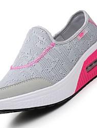Women's Sneakers Comfort Light Soles Tulle Summer Casual Outdoor Low Heel Dark Blue Gray Purple Blue Blushing Pink Under 1in