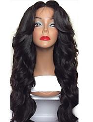 8a de seda top lace frente perucas de cabelo humano virgem para as mulheres negras 130% densidade brasileira glueless seda top lace front