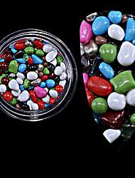 1pc a mis en bouteille les nouvelles pierres de pierre colorées pierre