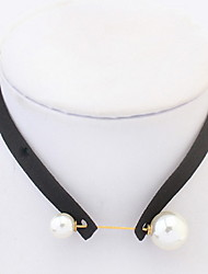 Geometric Pearl Necklace Collar Choker Necklace Women Office Lady Jewelry