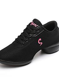 Для женщин-Ткань-Не персонализируемая(Белый Черный Красный) -Танцевальные кроссовки