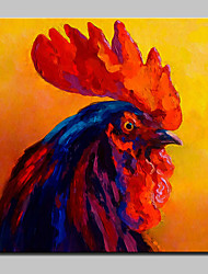 Hand-Painted Modern Abstract  Cock Animal Oil Painting On Canvas Wall Art Pictures For Home Decoration Ready To Hang